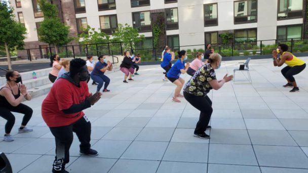 Outdoor Zumba Class at SBH Health and Wellness Center
